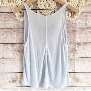 Free People Intimately FP V-back Ribbed Tank Top S